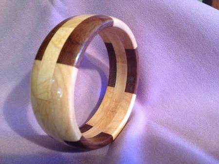 Segmented Wood Bracelet 15