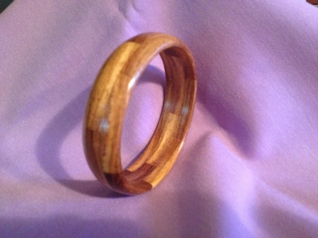 Segmented Wood Bracelet 16