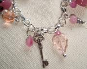 Pink bracelet with key