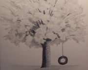 Tire Swing Drawing