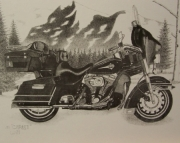 Harly Davidson Ultra Classic Drawing