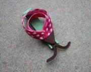 LadyBug Pink PolkaDot Hair Clip