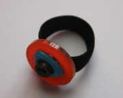 Ring, Orange, Blue, Brown Button Sizeable