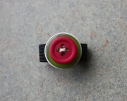 Ring, Pink, Green, and Cream Buttons, Sizeable