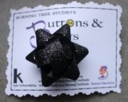 Black Glitter Sparkle Package Hair bow French clip