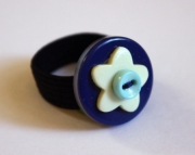 Ring Blue Yellow Star Baby Blue Button