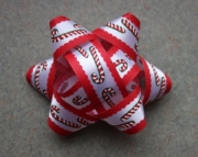 Red and White Candy Cane Accents Reusable Package &/or Hair Bow