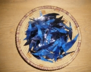 Night Blue Stained Glass Shards for Mosaic Crafting