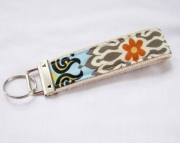 Wristlet Key Fob Key Chain in Amy Butler Temple Garden