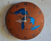 Copper Patina Michigan-Great Lakes clock