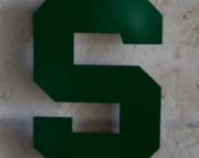 Michigan State Logo Wall Hanging