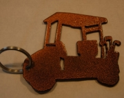 Golf cart key chain in copper vein powder coat