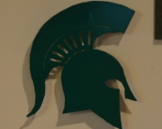 Sparty Helmet Logo Wall Hanging