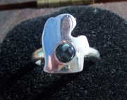 chlorastrolite michigan greenstone silver ring